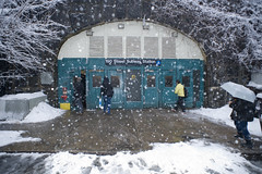 bennett ave. (zalkr) Tags: new york city nyc snow station st train subway washington nikon flash cheers mta chuck 20mm heights 190th f28 cheers2 a d700 chuck2 chuck3 chuck4 cheers3 cheers4 chuck6 chuck5 chuckedbythepigsty
