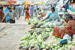 Vegetable Seller (Mark Griffith) Tags: india market bangalore bengaluru sonya7 vscofilm 20150223dsc00799