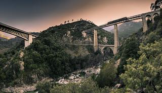 U trenu di Corsica (Corsica)