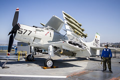 Douglas AD-4W Skyraider 127922 (zymurgy661) Tags: california museum canon san aircraft aviation navy diego midway douglas naval usaf usn uss carrier 6d skyraider cv41 127922 ad4w