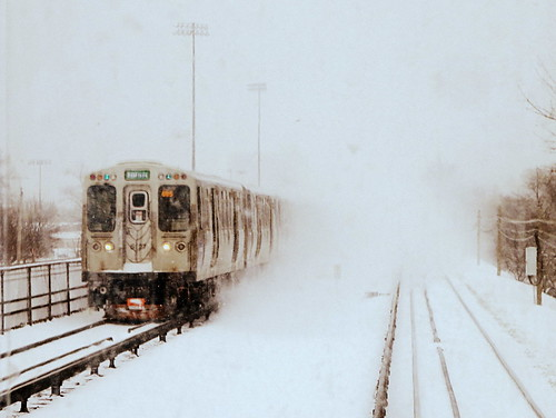 Green Line in the snow