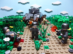 Invasion of Normandy ([C]oolcustomguy) Tags: trees brick green fire us fight tank arms lego nazi wwii tan german allies brickarms legolandscape