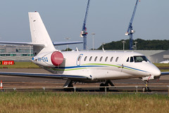 VH-EXQ (GH@BHD) Tags: vhexq cessna c680 citation citationsovereign executiveairlines stn egss stanstedairport londonstanstedairport bizjet corporate executive aircraft aviation
