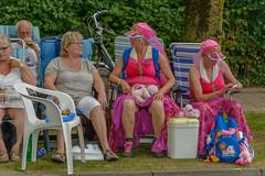 pink rest (stevefge) Tags: nederland netherlands beuningen pink walkers march ladies women hats people candid street vierdaagse walk walkoftheworld nederlandvandaag reflectyourworld