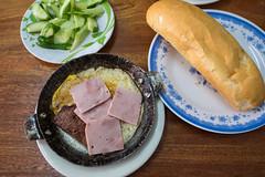 DSCF3515 (aaroncaley) Tags: food bread ham eggs pate vietnamesefood banhmi