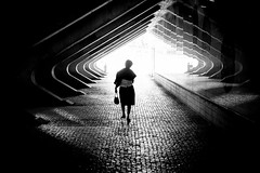 The Lady (gheckels) Tags: street travel light urban monochrome composition dark walking blackwhite noir lisbon candid streetphotography carlzeiss urbanvista sonyimages sonya7rii heckelsphotography