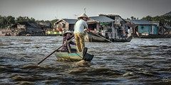 Cambodia - Tonle Sap Lake (Roberto Farina Travel Photography) Tags: woman girl rural river boat costume colorful asia cambodia buddhist culture lifestyle moment mekong tonlesap cambogia