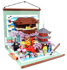 LEGO Culture of Japan - Kyoto Kiyomizu (alanboar) Tags: japan honeymoon lego culture kimono kiyomizu