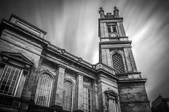 St. Stephen's (duncan_mclean) Tags: lee blackandwhite edinburgh church mono clock longexposure stockbridge clocktower scotland monochrome architecture bigstopper bw building leefilters le