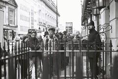 Waiting (goodfella2459) Tags: street white black london film museum analog 35mm john lens 50mm arthur nikon baker delta watson 100 doyle af nikkor sir holmes milf ilford f4 sherlock conan 221b f24d