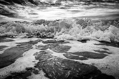 The wave ... (martina.stang) Tags: pov lowangle wideanglelens thetideisturning flood genesis whenwaterandskywasone welle sky dramatic clouds