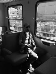 """Selfie in Black & White"" (giannipaoloziliani) Tags: giannipaoloziliani man logbook timetravel worktime train men photographer light sunrays rays onlyme only retrato biancoenero portrait blackandwhitephotography justme io myself monochromatic selfie blackandwhite"