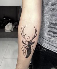 geometric (ktattoo2711) Tags: art geometric animal tattoo watercolor sketch artist vietnamese drawing sketching tattoos deer vietnam draw saigon linework tattooist si gn dotwork watercolortattoo saigonese smalltattoo xm