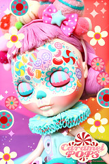 Candievera MintiePops ( Caramelaw ) Tags: approved caramelaw caramelpops blythe blythes custom ooak customized doll dolls pullip calavera kawaii cute rainbow candy sugarskulls diademuertos dayofthedead