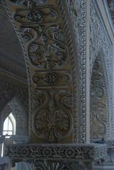 Wet Stucco work on arches (VinayakH) Tags: india gardens royal palace hyderabad royalpalace nizam telangana chowmahallapalace