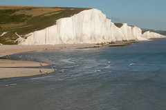 Late afternoon sunbathers   Cuckmere Haven   Seven Sisters walk   July 2016-51 (Paul Dykes) Tags: southdowns southdownsway southcoast coast cliffs sea shore coastal englishchannel sussex england uk seaside sun sunnyday chalk downs hills countryside