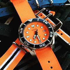 Seiko SBDC005 Sumo (Fana ) Tags: seiko sbdc005 sumo montre timepiece hour horloge wristwatch watch watches automatic automatique orange dial diver plongeuse nato scuba watchelse fanawatches seikodiver bracelets straps