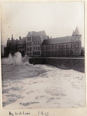 The Old College at Aberystwyth Wales  by W R Saer 1910 (Bury Gardener) Tags: oldies bw blackandwhite uk wales 1900s vintage