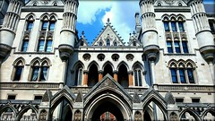Law and Order (will668) Tags: royalcourtsofjustice royalcourtofjustice lawcourts london centrallondon highcourt courtofappeal rjc rollsbuilding architecturaldetail architecture arches spires columns windows gothicstyle victoriangothic thestrand cityofwestminster