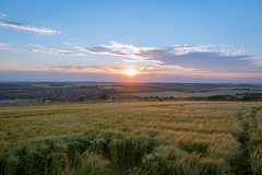 Sunset over Bedfordshire... (HotSnapshot) Tags: sunset sunsets landscape landscapephotography urban luton bedfordshire wardenhill canon 5d 5d3 canon5dmark3 canon5dmarkiii canon5d 2470mm 2470mmf28ii 2470mmf28 2470 canon2470mmf28iil settingsun summer summertime field fields open horizon cloud clouds sky