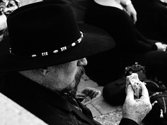 #streetphotography #streetlife #man #oldman #hat #cowboyhat #cowboy #food #blackandwhite #bnw #olympus #life (Alex A Frost) Tags: streetphotography streetlife man oldman hat cowboyhat cowboy food blackandwhite bnw olympus life
