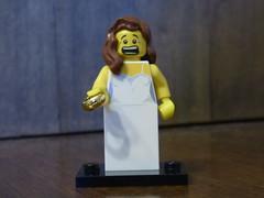 Brick Yourself Figure - Surprised Bride