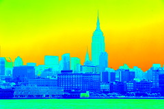 Photo of the Day Project, Aug. 23, 2016: A heat map look at the New York City skyline. (apardavila) Tags: chryslerbuilding heatmap hoboken manhattan newyorkcity nyc nycskyline skyline skyscraper