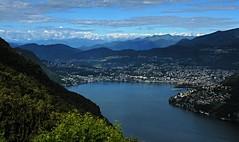"""2016 8 1 Lanzo d'Intelvi, panorama su Lugano e le Alpi dal """"Belvedere di Lanzo"""" (mario_ghezzi) Tags: lanzodintelvi lombardia italia intelvi valledintelvi nikon coolpix nikoncoolpix p6000 coolpixp6000 nikonp6000 nikoncoolpixp6000 marioghezzi noreflex 2016 belvederedilanzodintelvi lugano svizzera cantonticino alpi monterosa ceresio lago lagoceresio lagodilugano"""