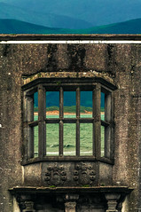 Mike Driscoll 2016 - Ocean View (Michael Driscoll Jr.) Tags: window stone view old ancient hills water bay ocean building ireland green grid