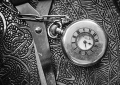 Cutting time (Rico Shay) Tags: time timepiece halfhunter watch pocketwatch stilllife bw fob lovephotography olympus