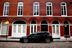 just a sec (Lindz Photography) Tags: vibrant vw ybor tampa florida volkswagon gti brick contrast symmetry windows