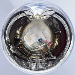 One New Change globe (Steven Vacher) Tags: london uk unitedkingdon 360 360º panoramic pano min miniplanet miniglobe globe stevenvacher vacher