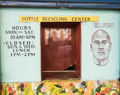 Bottle Recycling Center (UrbanphotoZ) Tags: bottlerecyclingcenterwall painted portal reflection eljoro portrait hours mural flowers border wall washingtonave brooklyn newyorkcity newyork nyc ny