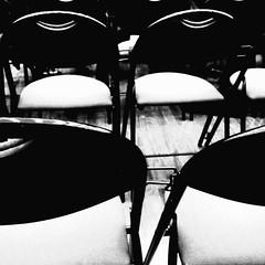 Chairs (justedesphotos) Tags: blackandwhite paris design noiretblanc repetition bercy