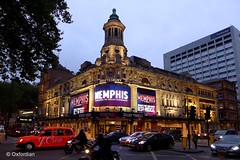 Memphis The Musical (oxfordian.world) Tags: england london architecture theater nightshot theatre memphis musical gb westend shaftesburytheatre oxfordian londonstreetview grosbritannien lumixlx7 oxfordiankissuth memphisthemusical