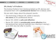 ProDerm Study for IPL งานวิจัยการใช้งานเครื่องกำจัดขนถาวร IPL Beurer จากสถาบัน ProDerm เยอรมัน