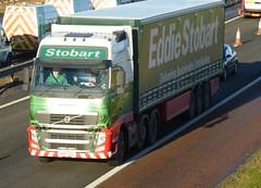 H4740 - PX11 CEK (Cammies Transport Photography) Tags: truck volvo amazon julia lorry eddie amelia fh flyover dunfermline esl cek m90 stobart eddiestobart px11 px11cek h4740