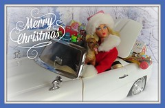 (7) Wishing you all a very Merry Christmas! (Foxy Belle) Tags: santa christmas trees winter dog white holiday snow scale hat car vintage toys mod barbie convertible flip 16 diorama bratz marlo