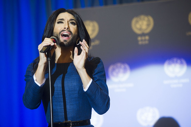 Conchita Wurst Performs at United Nations Office in Vienna
