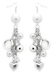 5th Avenue White Earrings P5610-4