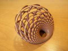 Yet another Dupin Cyclide defined by its families of Yvon-Villarceau circles equivalents (fdecomite) Tags: circle print 3d geometry math povray dupin cyclide