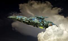 Engin Spatial (Jean-Pierre Verduzier) Tags: photoshop montage sciencefiction avion maquette fusée enginspatiaux
