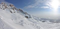 Dolomiten (Arndted) Tags: sky italy panorama sun mountain snow nikon dolomiten hugin d90 huginpanoramaphotostitcher