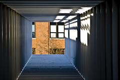 windO-H (jfre81) Tags: columbus ohio oh light tunnel art center osu state university campus minimalist orange brick wexner
