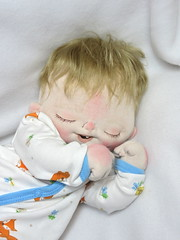 Thaddeus (BeBe Babies and Friends) Tags: boy sculpture baby art doll soft artist dolls babies ooak plush fabric newborn bebe cloth realistic