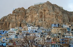 The village of christianity (Mohamed Haykal) Tags: world history that blessings mar still ancient village place unique jesus entrance rocky syria gorge language visitors christians attraction maaloula pilgrims  aramaic  monasteries maalula sarkis       taqla