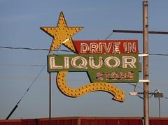 DRIVE IN LIQUOR STORE ALBUQUERQUE NEW MEXICO ROUTE 66 (ussiwojima) Tags: newmexico sign bulb advertising route66 neon albuquerque arrow liquorstore driveinliquorstore