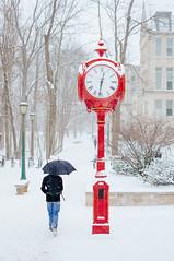 IU Clock (Wang Sanjin) Tags: winter snow peace indiana bloomington indianauniversity iu 雪 冬 iub btown 2015 indianauniversitybloomington