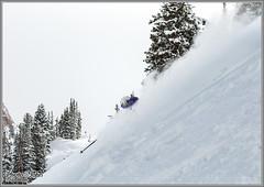 Alta Powder Leftovers (Photo-John) Tags: travel winter snow ski sports canon eos utah skiing action outdoor powder adventure saltlakecity alta slc pow skier lcc powderday greatestsnowonearth 70d coldsmoke
