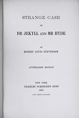 "Title Page: ""Strange Case of Dr. Jekyll and Mr. Hyde"" by Robert Louis Stevenson. NY: Charles Scribner's Sons, 1886. 1st U.S. ed. (lhboudreau) Tags: book gothic books stevenson horror 1886 jekyllandhyde hardcover mrhyde robertlouisstevenson firstedition vintagebook drjekyll vintagebooks classicnovel scribners drjekyllandmrhyde classicbook horrorstory hardcovers vintagenovel gothichorror hardcoverbooks hardcoverbook charlesscribnerssons gothicnovel classicstory charlesscribners strangecaseofdrjekyllandmrhyde victoriannovel firstamericanedition firstusedition"